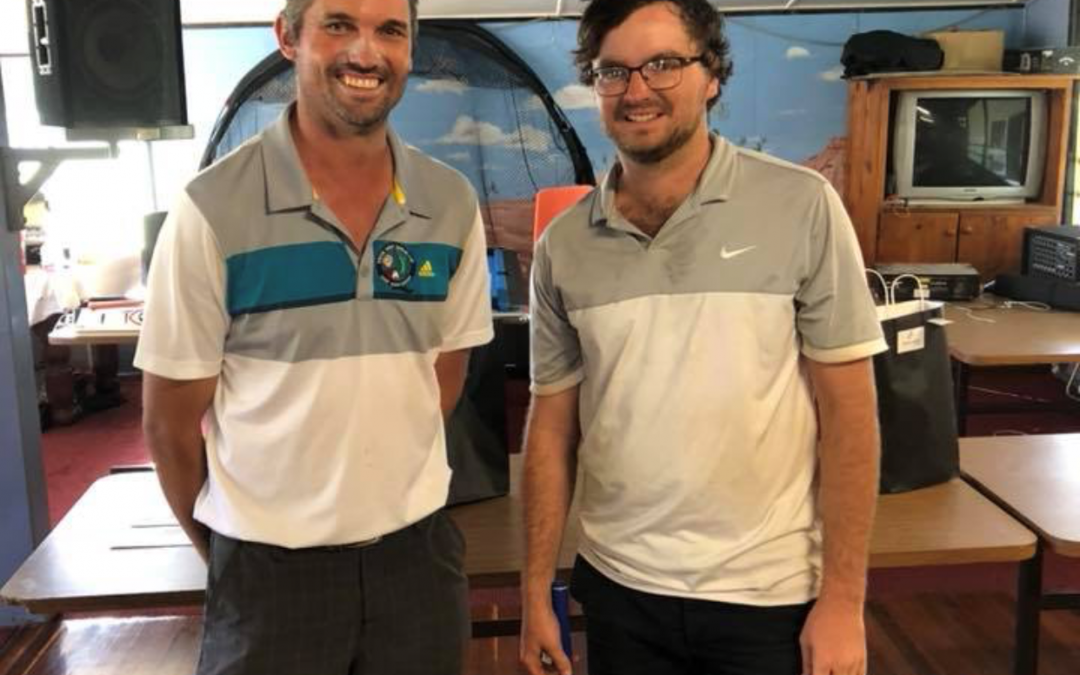 Sam Wade (right) is pictured with Charleville Golf Club vice-captain, Chris Pezet
