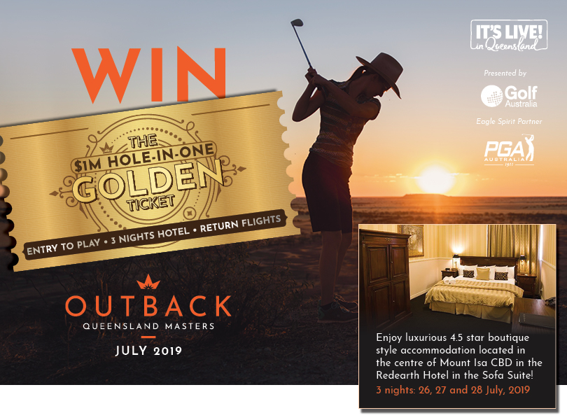 You and a friend could be off for the chance of a lifetime to play in the inaugural Outback Queensland Masters for the Mount Isa Million Dollar Hole-In-One Challenge!