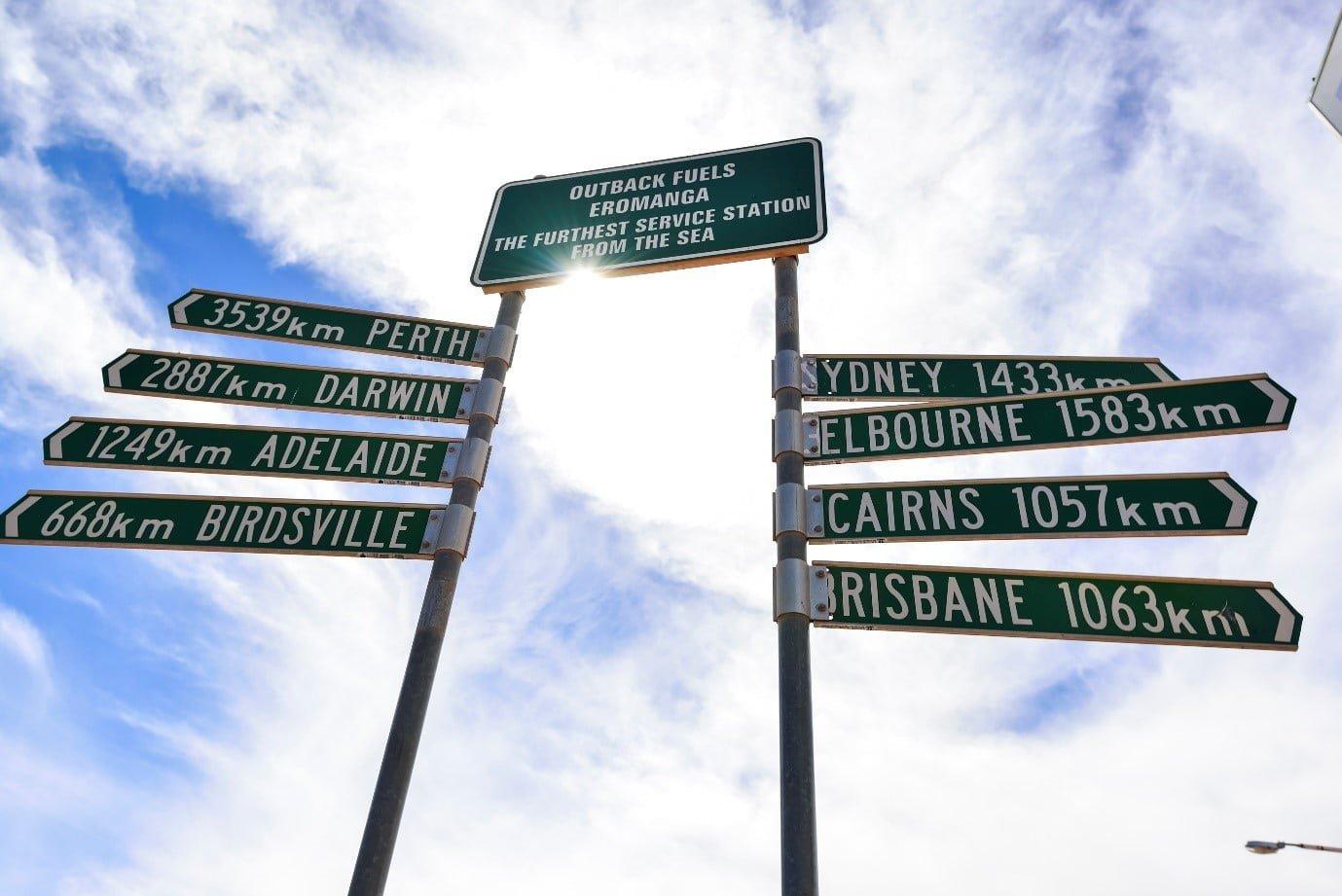 Euromanga Town Sign