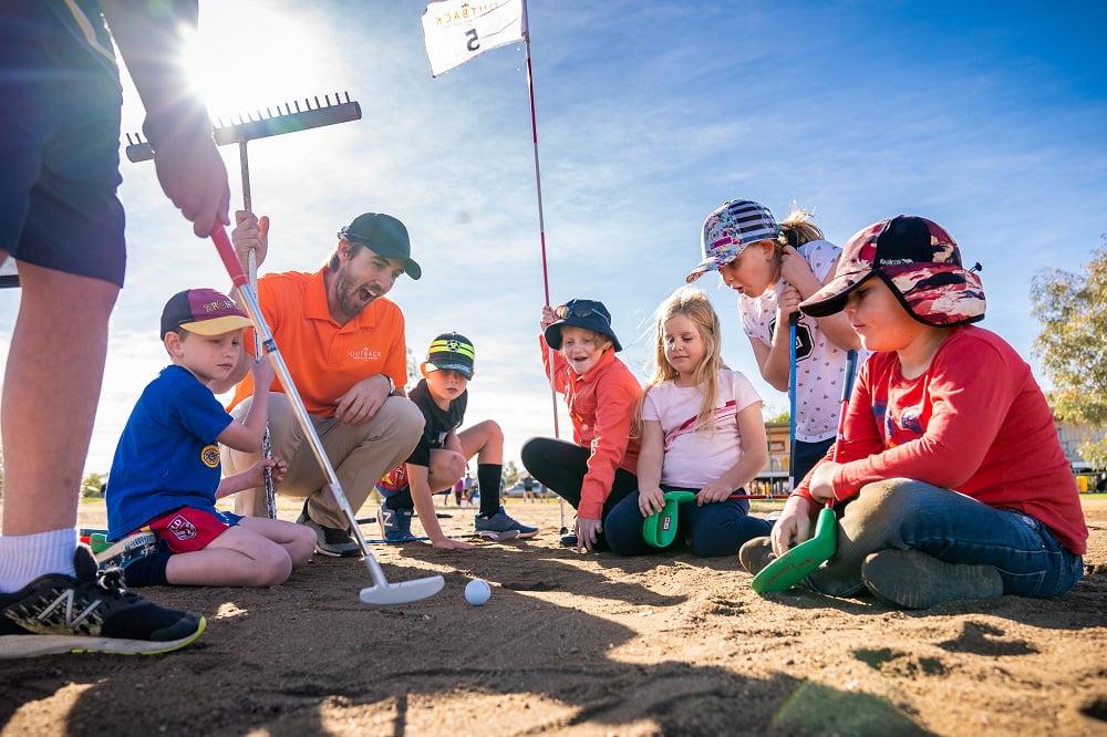 Free outback junior golf clinics