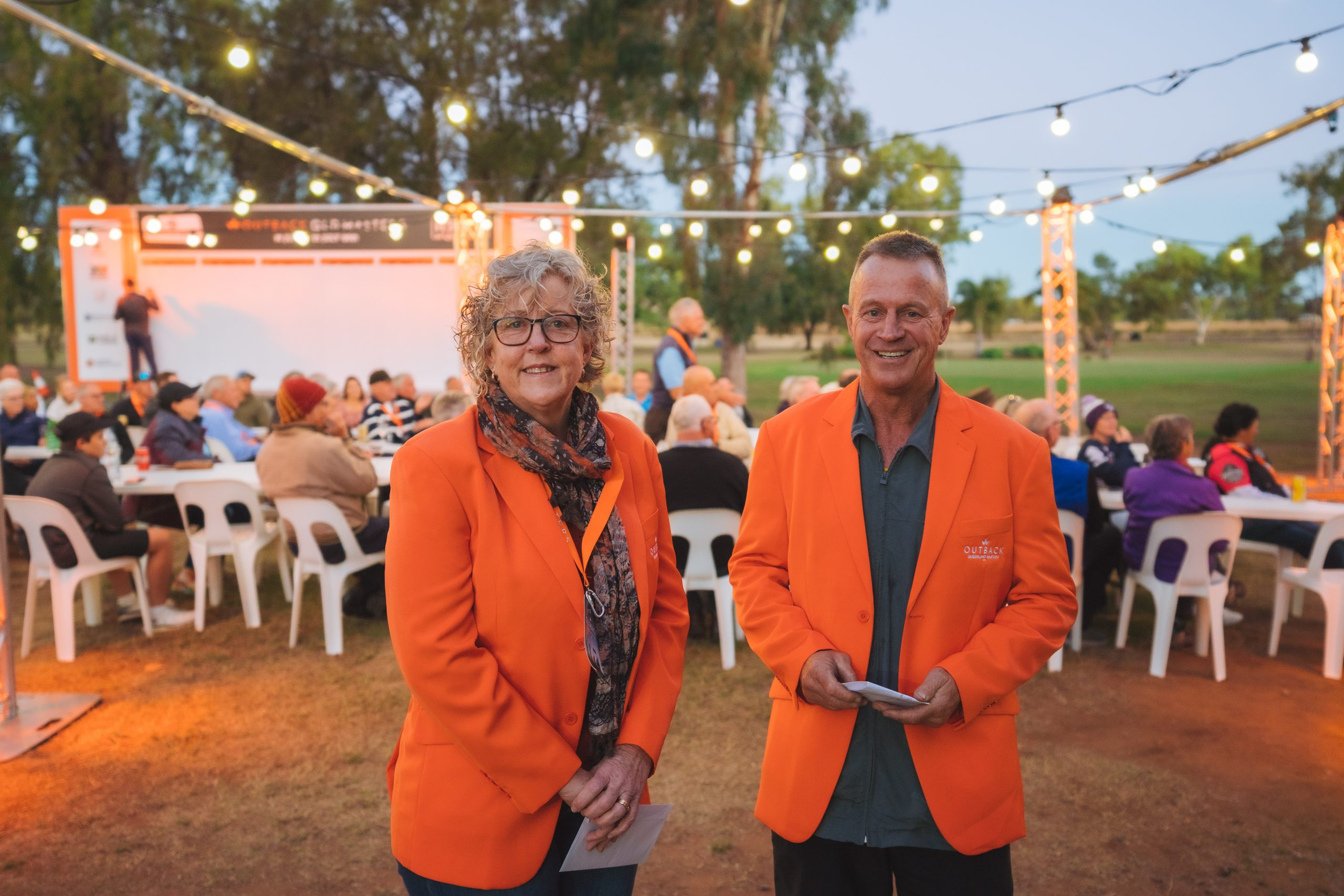 Val Garrett of Biloela Golf Club Incorporated and Fred Taylor Hervey Bay Golf And Country Club